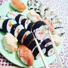 Check #sushi #muitobom #estouAmelhorar 🍚🍙🍣
