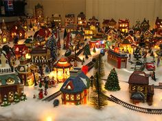 Christmas Village Ideas | miniature Christmas village is the illustration used by the ...