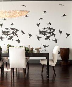 15 pomysłów na ścianę z motywami ptaków. Będziesz chciała mieć takie na Twojej ścianie