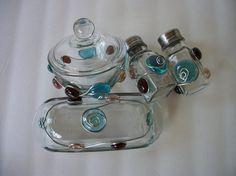 Glass Gem 4 Piece Kitchen Gift Set Wire by AcrossAmericaGlass, $39.99