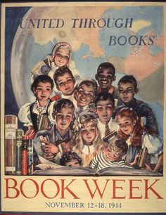 Official Children's Book Week poster, 1944, Nedda Walker, (Dates Unknown)