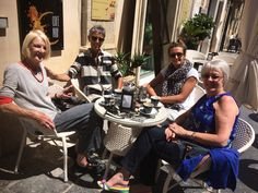 Brain storming sessions. Coffee and chat in Noto.