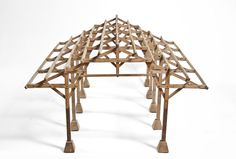 Architectural model of a vaulted ceiling.  in french mahogany.  FABulous.