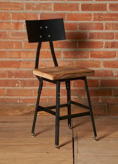 Bar stool chair pairs perfectly with a reclaimed wood table or desk from Urban Wood Goods. Let us transform your office, kitchen or space with