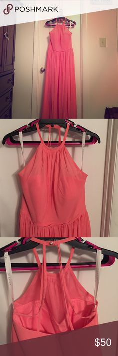 Bridesmaid dress Coral colored bridesmaid dress. Worn once. azazie Dresses Prom