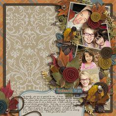 Gorgeous! by @Tasha   Thankful Fall Digital Scrapbook Kit from www.peppermintcreative.com