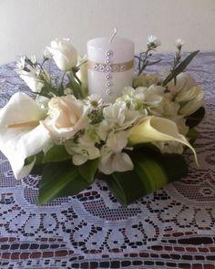 centros de mesa para primera comunion niña con flores - Buscar con Google