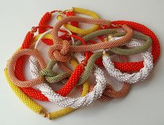 Bead Crochet Ropes... by helen_likes_racing, via Flickr