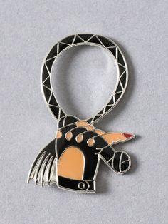 Whip Hand Enamel Pin - Gypsy Warrior