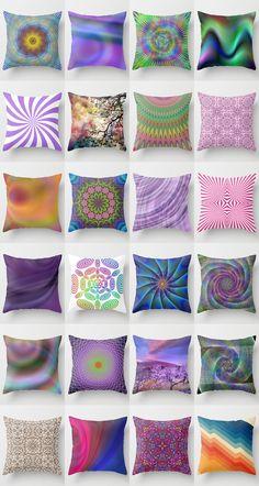 Color throw pillows