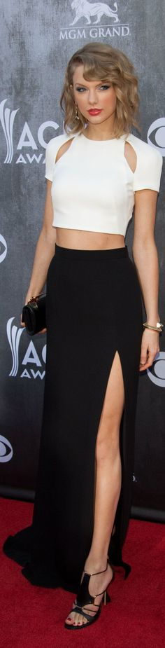 not her usual Taylor Swift self we have seen in the past...but i have st say, she looked GREAT! (ACM's)