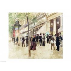 The Boulevard Montmartre and the Theatre des Varietes Canvas Art - Jean Beraud (24 x 18)