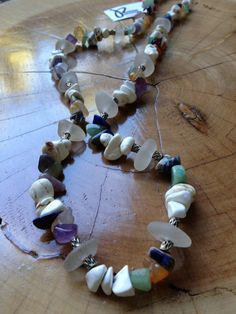 27inch Multi Stone and Sea Glass Necklace by JimRoweDesigns, $45.99