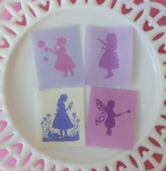 Little Girl Silhouette Edible Image Wafer by QueenofTartsWafers