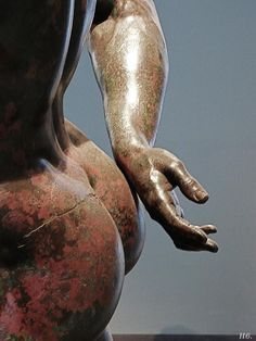 Detail: Hellenistic Prince. 2nd century. Roman. bronze. Museo Nazionale Romano. Rome.