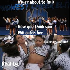 haha!!! you no longer have a personal bubble in cheer!! :D