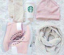 bonnet, gants, scarf, starbucks, timberland