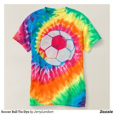 Soccer Ball Tie Dye T-shirt