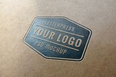 Letterpress Logo MockUp #1 | GraphicBurger