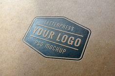 Letterpress Logo MockUp #free #psd