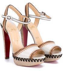 CHRISTIAN LOUBOUTIN Trepi Leather Ankle Strap Sandals
