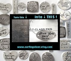 Memorial Jewelry or Father to Daughter Gift Your by SurfingSilver