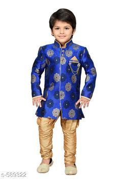 Checkout this latest Clothing Set Product Name: *Stylish Boy's Clothing Set* Sizes: 6-7 Years, 7-8 Years, 8-9 Years Country of Origin: India Easy Returns Available In Case Of Any Issue   Catalog Rating: ★4.3 (1635)  Catalog Name: Funky Boys Ethnic Clothing Set Vol 1 CatalogID_65654 C59-SC1182 Code: 566-589322-5181
