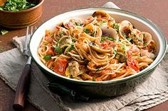 Spaghettini with clams and cherry tomato
