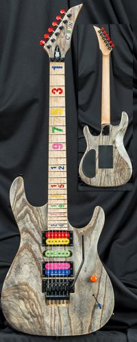 Carvin Guitars JB24 Jason Becker Tribute Numbers Guitar with Floyd Rose Tremolo Serial Number 133444
