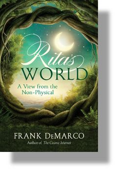 Rita's World is a conversation between friends in two worlds: Rita Warren, now in the non-physical world, Frank DeMarco, still in the body. While Rita was alive, the two had engaged in weekly sessions in which Rita had asked Frank questions about life. He had answered from an altered state of consciousness. Those sessions were made into a book, The Sphere and the Hologram. Now, 7 years after she made her transition, she returns to the same subjects from her world.