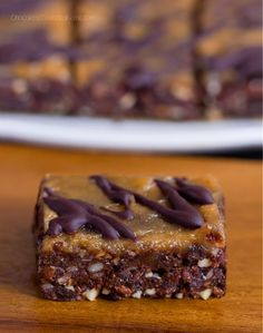 No-Bake Chocolate Peanut Butter Brownie Bars #justeatrealfood #chocolatecoveredkatie