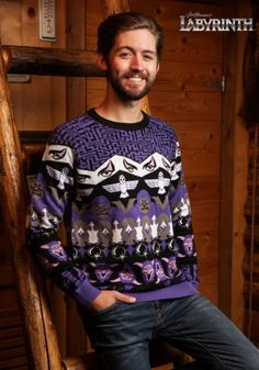 Take your holiday to a new realm when you wear this Labyrinth Character Ugly Christmas Sweater. It features a pattern with different images from the movie. Ugly Holiday Sweater, Ugly Sweater, Christmas Sweaters, Christmas Clothes, The Dark Crystal, Yarn Sizes, Stunning Eyes, Cheap Shirts, Sweater Weather