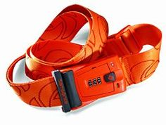Samsonite Luggage Travel Sentry 3 Dial Combination Strap, Juicy Orange, One Size: Feel confident that your luggage will not open unexpectedly when using this luggage strap with combination lock for extra security Samsonite Luggage, Luggage Accessories, Luggage Straps, Travel Gadgets, Packing Tips For Travel, Travel Gifts, Travel Luggage, You Bag, Holiday Fun