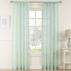 Buy Daydreamer 63-Inch Sheer Window Curtain Panel in Mint from Bed Bath & Beyond