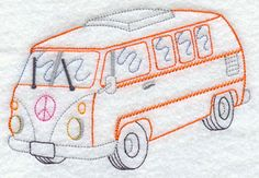 A peace van machine embroidery design.
