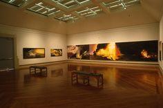 """Susan Crile: The Fires of War,"" September 7-October 29, 1995 (photo: Erik Borg)"