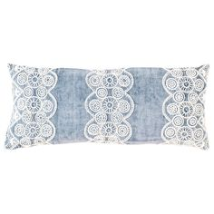Pine Cone Hill French Knot Blue Double Boudoir Pillow @LaylaGrayce