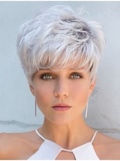 Hairstyles Short Grey Hair - Current Hairstyles Short Grey Hair include a couple of improvements which update Hairstyles Short Grey Hair hair styles to the Grey Wig, Short Grey Hair, Short Hair Cuts For Women, Short Hairstyles For Women, Black Hair, Short Pixie Haircuts, Pixie Hairstyles, Braided Hairstyles, Boy Haircuts