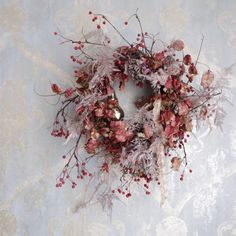 Design Floral, Deco Floral, Dried Flower Wreaths, Dried Flowers, Flower Decorations, Christmas Decorations, Holiday Decor, Xmas Wreaths, Wreath Crafts