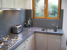 Polished concrete worktops - Paul Davies Design