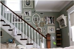 great staircase and photo arrangement