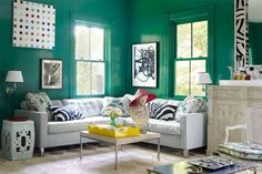 A Splash Of Green- ELLEDecor.com