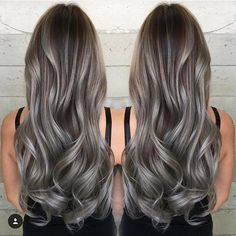 Image result for hair color grayish brown