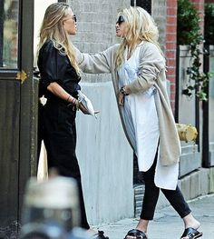Mary-Kate and Ashley outside their office in NYC, August 9 2016