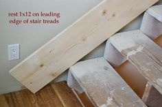 This is also true for that basement stairs. Stairs Skirting, Stairs Trim, Redo Stairs, White Stairs, Stair Walls, Basement Stairs, Stair Trim Ideas, Basement Ideas, Open Stairs
