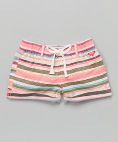 Loving this Coral Sea Sounds Stripe Shorts - Girls on #zulily! #zulilyfinds