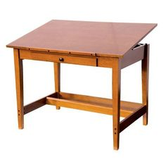 Save On Discount Alvin Titan Drafting Table with Drawer, Walnut ...