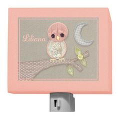 Oopsy Daisy Vintage Baby Owl by Kristen White Personalized Night Light