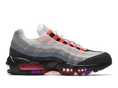 sale retailer 4a9e0 2a863 Nike Wmns Air Max 95 Essential Gs Chaussures Sportswear Pas Cher Pour Femme  Noir rouge blanc