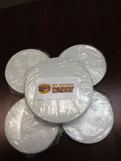 "5000 Patty Paper Dividers 4"" Round My Burger Daddy"